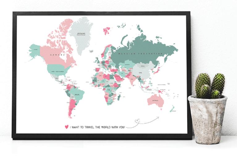 wereldkaart kopen